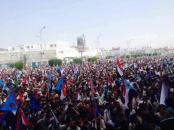 عدن :  توقف الحركة واحتشاد مليوني الان في ساحة العروض