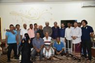 رئيس المجلس الانتقالي يلتقي أعضاء جمعية أحرار رياضيي الجنوب