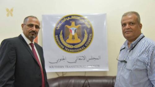اللواء الزبيدي يدشن إطلاق الموقع والشعار الرسميين للمجلس الانتقالي الجنوبي