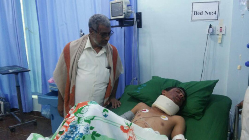 Head of STC Department of Thought and Guidance visited the injured soldiers in ALmukalla