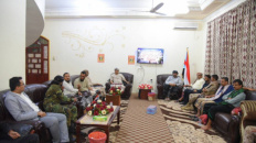 Commander of Elite Forces in Shabwa Governorate Arrive to Aden to Participate at the 14th October Celebrations