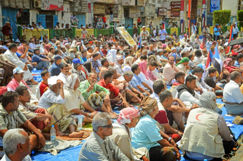 The Southerners Perform Friday Prayers on Madram Street in Aden