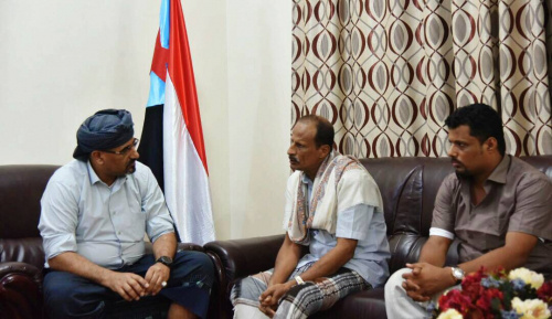 President of Southern Transitional Council Meets head of Council Branch in Al Mahara