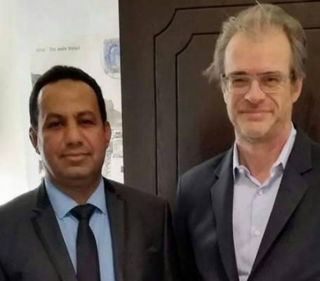 Member of the STC Department of Foreign Relations Meets the French Ambassador to Yemen and his Deputy in Riyadh