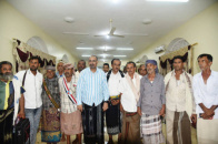 The President of the Southern Transitional Council Meets the People  of Batis