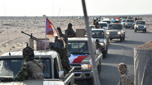 Al Zubaidi  Arrives at Shabwa  Governorate Accompanied by Several Members of the Presidency