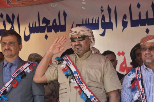 Al Zubaidi and the STC Presidium Members Arrive at Al Mukalla