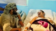 Sheikh Ben Berek Visits the Victims of last Night's Terrorist Attack