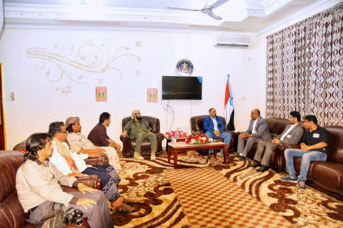 Al Zubaidi and the Vice President Ben Berek  Meet  the Southern Support Group of 21