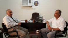 Shatara Meets  Dr.Alwali ,Head of National Assembly Branch in Aden,  In his Office Today