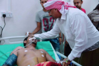Al Zubaidi Visits the Injured Officers of the Latest Events in Aden