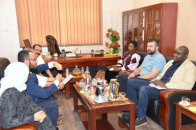 The Vice President of the STC Receives  Representatives of the UN Envoy Office