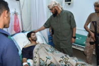 Sheikh Hani Ben Berek Visits the  Victims of the Terrorist Attack