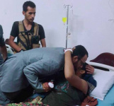 "Hani Ben Berek Visits the Wounded in the ""Torrent Floods"" Operation"