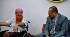 President of the Southern Transitional Council and His Deputy Receive the Wounded Warrior Abdullah Al-Sulaimani