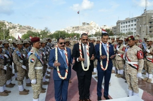 President Al-Zubaidi Lays a Wreath at the Memorial Graves  of the Southern Martyr