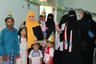 "Department of Women and Children of Southern Transitional Council, visits the children Cancer section at ""AL-Sadaka"" Hospital"
