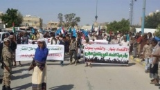 Shabwa Protests Against Government's Corruption and Rejects International Negotiations that overcome  its representative the Southern Transitional Council