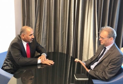 President of Southern Transitional Council meets with the Ambassador of France
