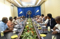 President Al-Zubaidi Chairs a Meeting of Transitional Council Presidency and Heads of Local Leaderships in the Governorates