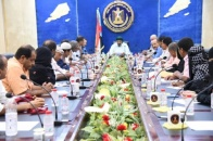 The President of the Southern Transitional Council meets the southern teachers' unions