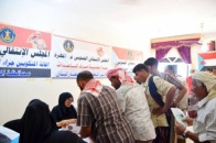 The Transitional Council Relief Committee Distributes Aids to the Affected by Hurricane Luban in Al-Mahra