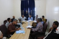 The Organizational Department of The Southern Transitional Council continues its inspection visits and holds a meeting in Abyan