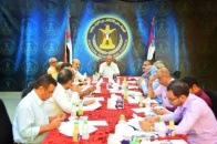 The General Secretariat of the Transitional Council reviews the reports of its weekly activities