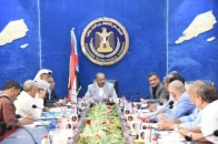 President Al-Zubaidi discusses with heads of local leaderships improving performance and enhancing Transitional Council presence in the community