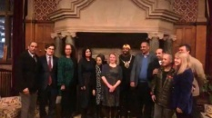 President Al-Zubaidi arrives in Sheffield and meets the mayor of the city
