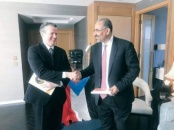 The President of the Southern Transitional Council meets president and founder of the Independent Diplomats Group