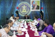 The General Secretariat holds its weekly meeting and discusses reports of its departments