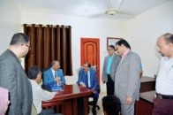 President Al-Zubaidi inspects work progress at the National Assembly of the Transitional Council