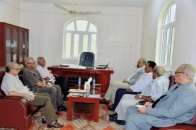 President Al-Zubaidi Holds a Meeting with the Transitional Council Foreign Relations Advisers
