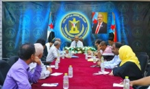 Al-Ja'di chairs a meeting of the General Secretariat with local leaderships of the Transitional Council