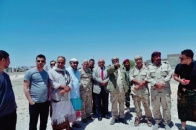Members of Southern Transitional Council Presidency inspect front lines in Al-Had of Yafea