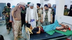 President Al-Zubaidi inspects status of Dhalea Front wounded in Al-Gomhouria Hospital