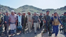 President Al-Zubaidi inspected the fronts lines in the province of Dhalea