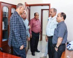 President Al-Zubaidi inspects work progress at the General Secretariat and the National Assembly