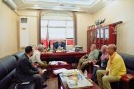 President Al-Zubaidi meets members of the Scientific Research Association