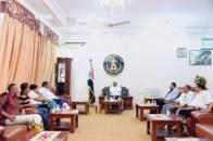 President Al-Zubaidi meets president and administration members of Shab Hadramout Club