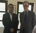 The representative of Transitional Council Foreign Affairs meets French ambassador to Yemen