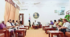 President Al-Zubaidi meets local leaders of the Transitional Council and the resistance of Mokiras