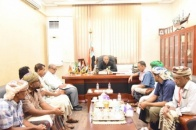 President Al-Zubaidi meets youth of Al-Jabir Council from Sah district of Hadramout Valley