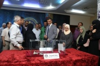 Houthi militias violations in Dhalea in a report and an exhibition for Human Rights Department