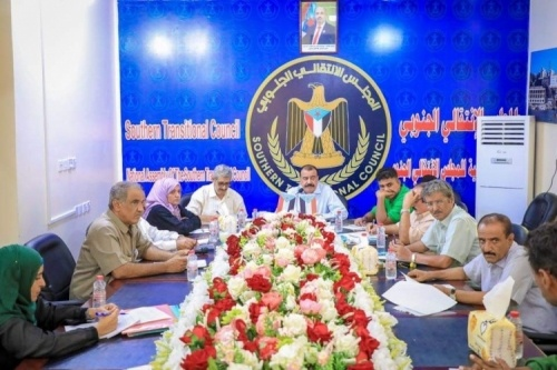Major General Ben Brik chairs a meeting of the Southern Dialogue Committee