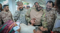 Vice President inspects status of wounded of Southern Forces and Presidential Brigades in hospital