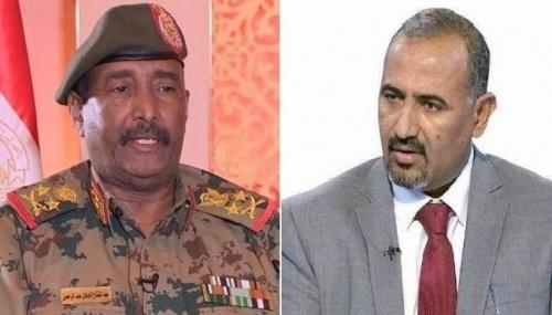 President Al-Zubaidi congratulates General Abdul-Fattah Al-Burhan and Sudanese people on signing the Constitutional Declaration
