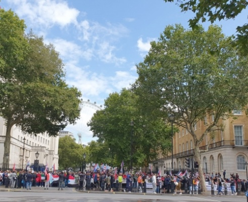 Southern community in UK demonstrates in support of Transitional Council