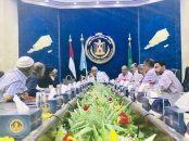 Presidency of the Transitional Council meets head officials of public services institutions in Aden